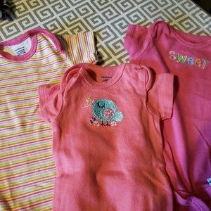 Baby Girl onsies. 3 pack